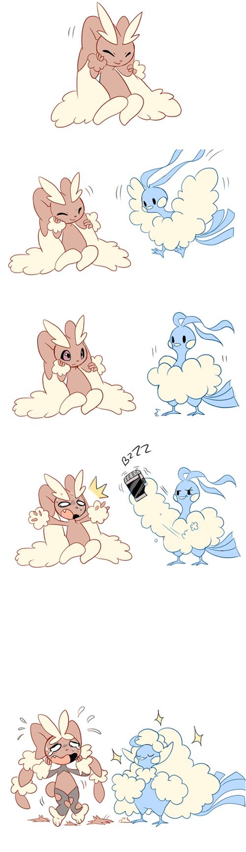 mega lopunny,Pokémon,FanArt,cute,mega altaria