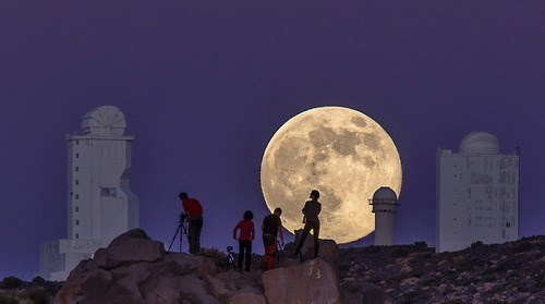Supermoon Over the Canary Islands