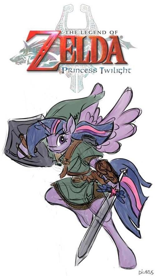 FanArt,legend of zelda,MLP,princess twilight