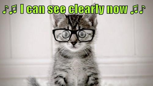 ♪♫ I can see clearly now ♫♪