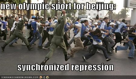 new olympic sport for beijing:  synchronized repression