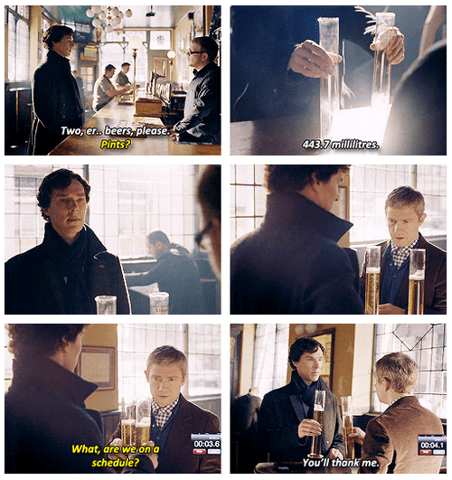 Sherlock Knows How to Drink