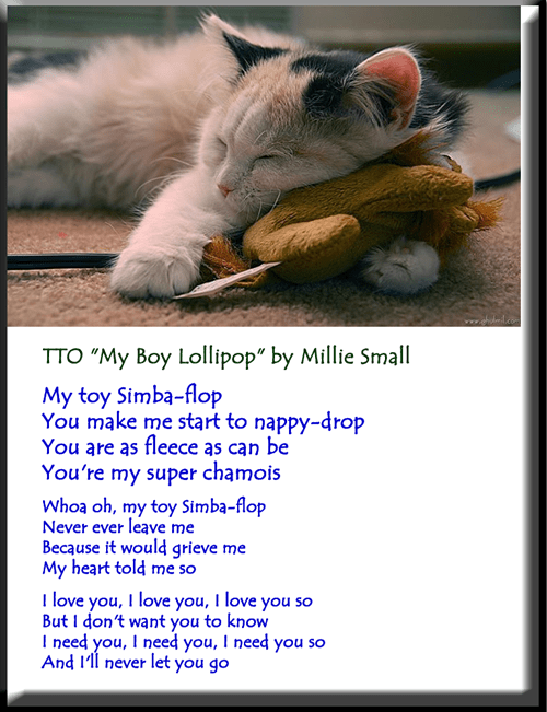 """My Toy Simba-flop"" (TTO ""My Boy Lollipop"" by Millie Small)"