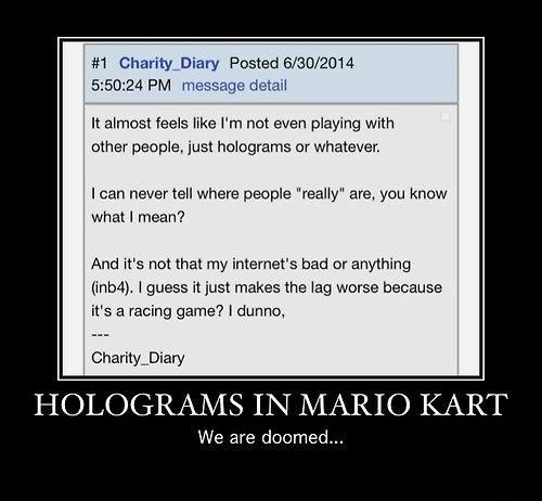 wtf,holograms,Mario Kart,funny