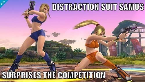 DISTRACTION SUIT SAMUS  SURPRISES THE COMPETITION