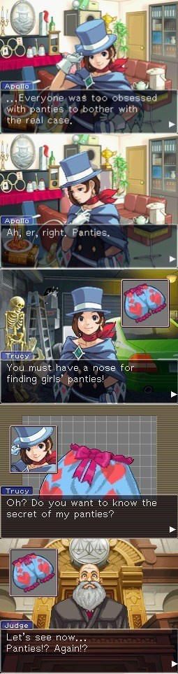 Apollo Justice: Ace... Panties?