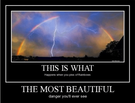 Thor,lightning,funny,rainbow