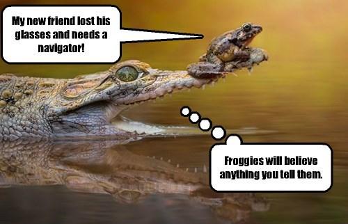 After he shed crocodile tears, the frog felt he HAD to help him.