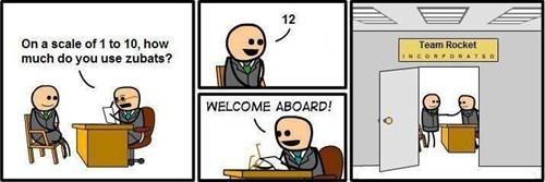 Team Rocket,zubat,Welcome Aboard