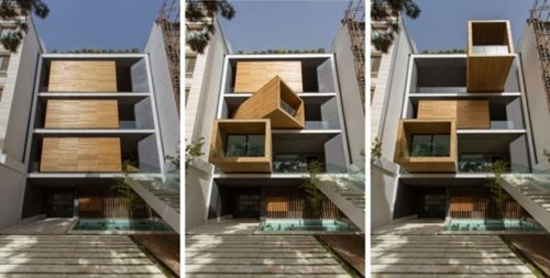This House in Tehran Can Change its Configurations for the Weather