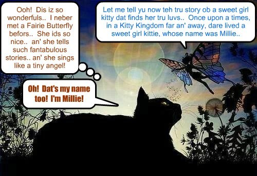 At great danger to herself from evil spirits, Madame Esmeralda sent teh beautiful Fairie Butterfly Aurelie to Millie to keep her company thru teh scary night..