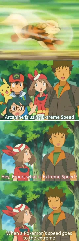 brock,anime,arcanine,extremespeed