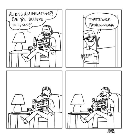 Aliens,sick truth,kids,parents,web comics