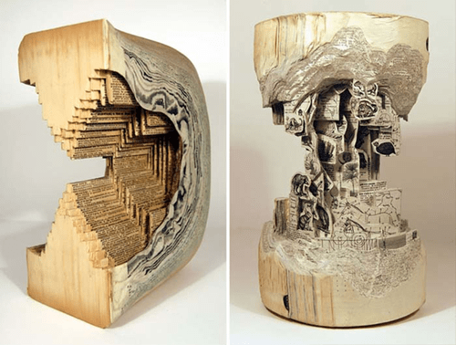 Brian Dettmer is the Ultimate Book Sculptor