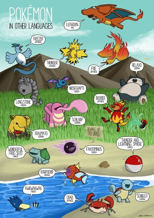 If Pokémon Said Their Names In Other Languages