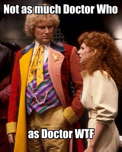 Not as much Doctor Who