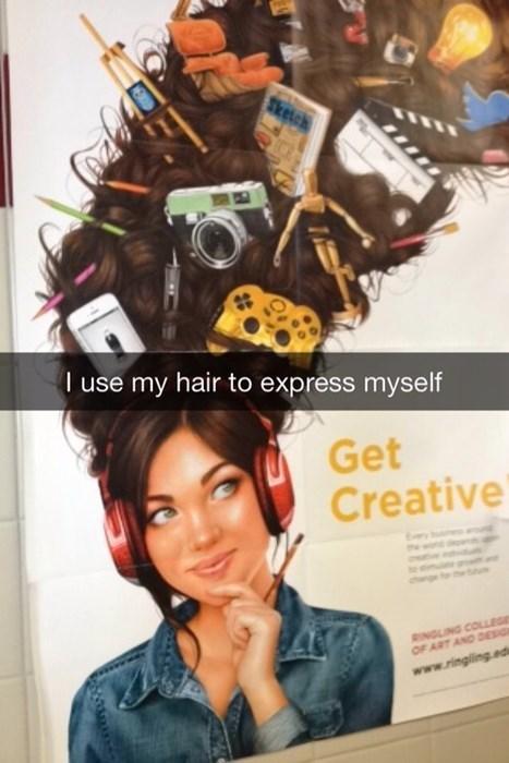 hair,snapchat
