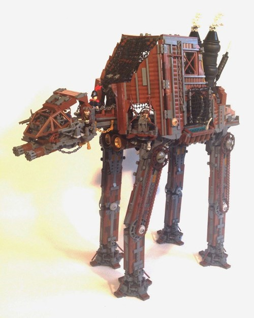 Somebody at LEGO Needs to Get the Stamp of Approval on This Steampunk AT-AT Walker