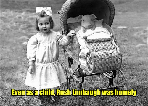 Even as a child, Rush Limbaugh was homely