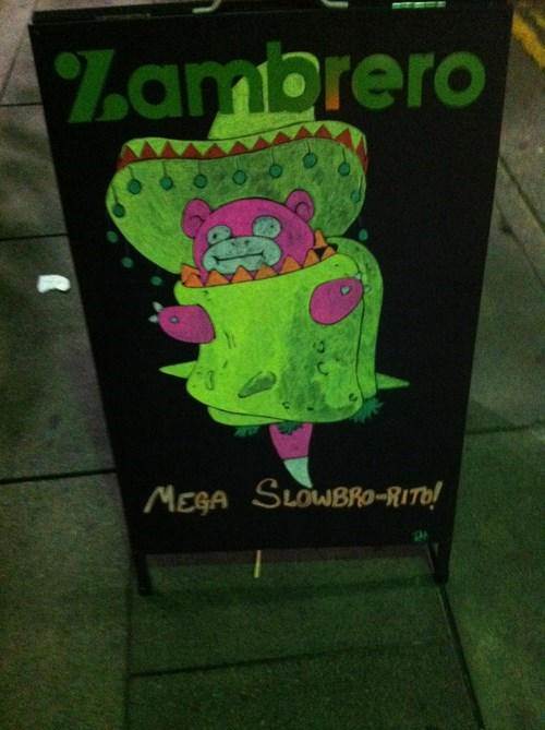 Burrito Shop Getting Hype for Mega Slowbro