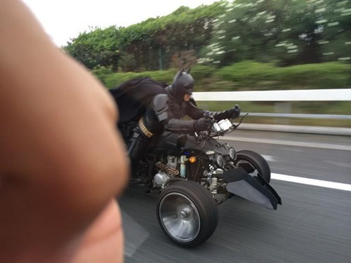 Batman, Spotted on a Japanese Highway in a Custom Trike
