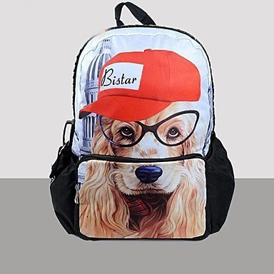 """""""Hot Selling Lovely Dog Backpack Bag Fashion School Bag For Teenagers With Pocket For iPad and iPhone """""""