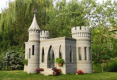 This Playhouse Was 3D-Printed From Concrete!