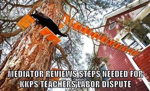 MEDIATOR REVIEWS STEPS NEEDED FOR KKPS TEACHERS LABOR DISPUTE