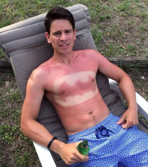 sunburn,tanning,batman
