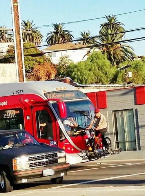 monday thru friday,commute,bike rack,bike,bus
