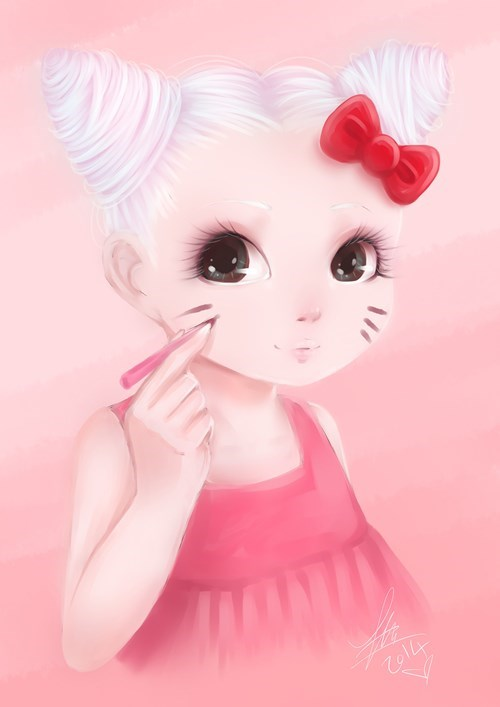 If Hello Kitty Really Was a Little Girl