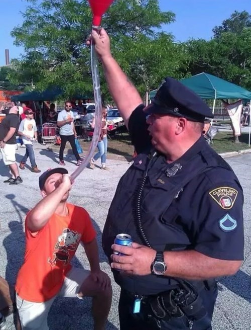 Cops, They Love Beer Bongs