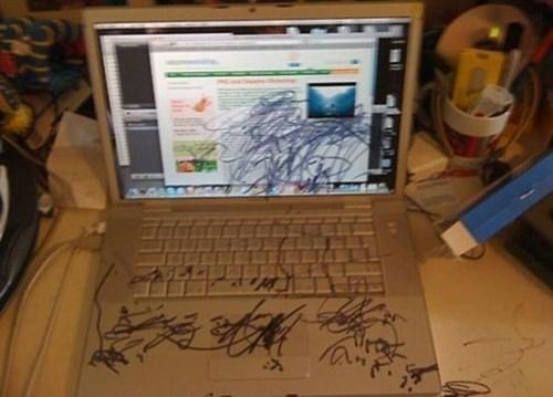 computer,kids,parenting,marker