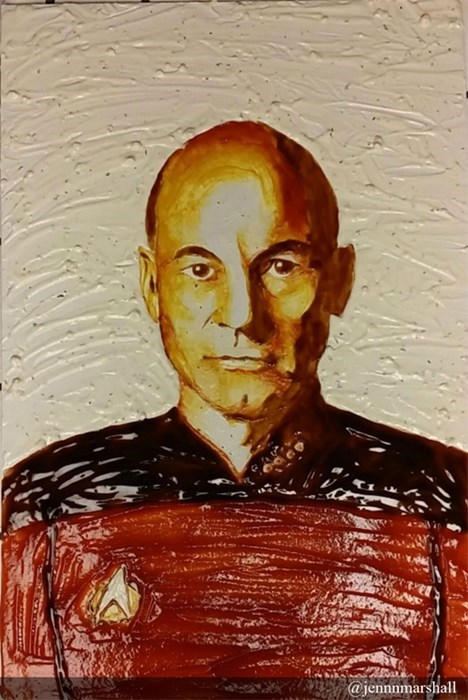 Captain Picard Made of Condiments