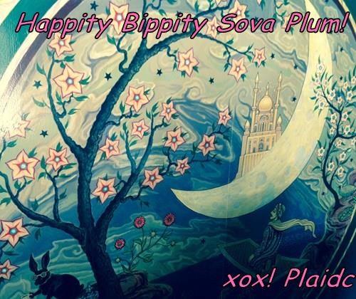 Happity Bippity Sova Plum!  xox! Plaidc