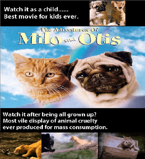 Milo and Otis - Animal Cruelty Through the Eyes of a Child VS An Adult