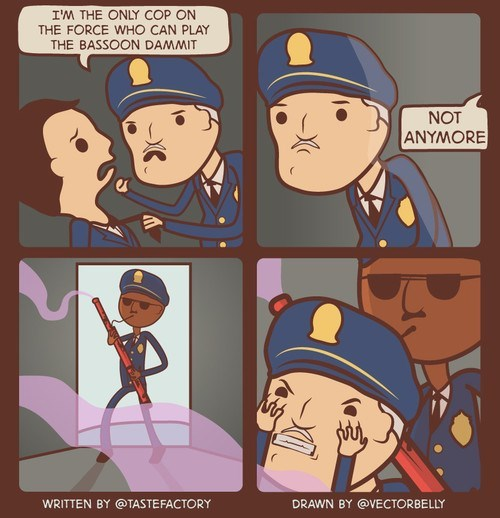 bassoon,cops,instruments,Music,web comics