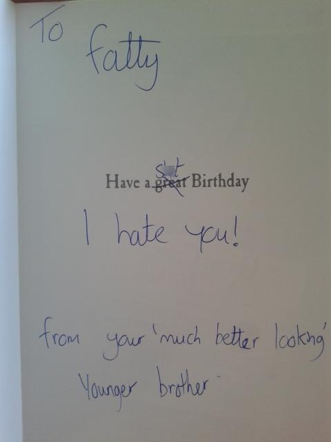 Sibling Rivalry Does Not Break For Birthdays