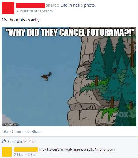 cancelled,facepalm,futurama,TV