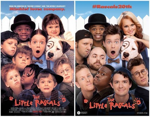"Nostalgia Bomb of the Day: ""The Little Rascals"" Cast Celebrates Their 20th Anniversary by Recreating the Movie's Poster"