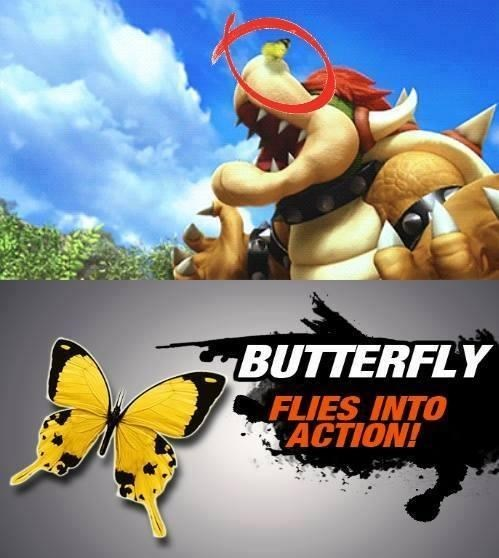 butterfly,super smash bros,bowser