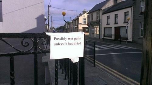 obvious,sign,paint,duh