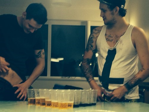 Not Sure Where This Game of Beer Pong Is Going