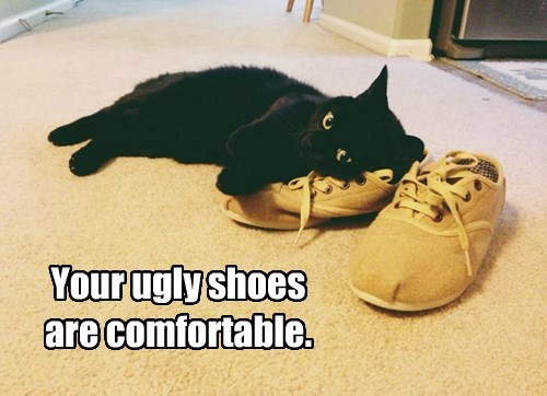 Your ugly shoes are comfortable.