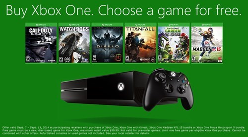 Buy an Xbox One, Get a Free Game