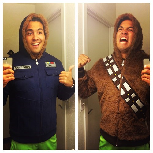 star wars,poorly dressed,chewbacca,hoodie,Han Solo,win,g rated