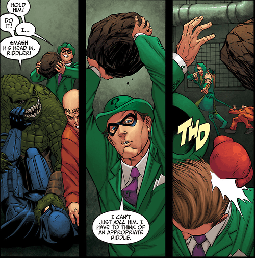 The Riddler Foils Himself