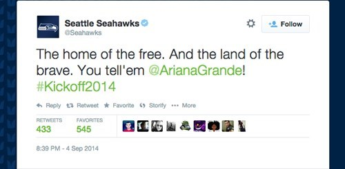 Close Enough of the Day: A Seahawks Social Media Employee is Getting the Stinkeye Today