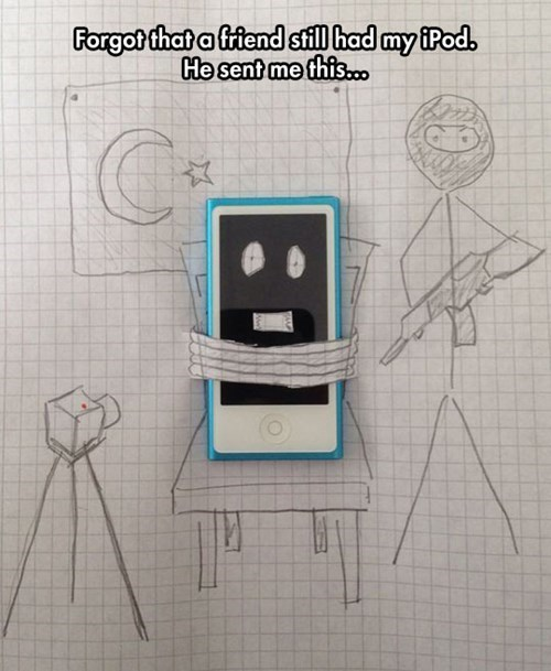 hostage,phones,texting