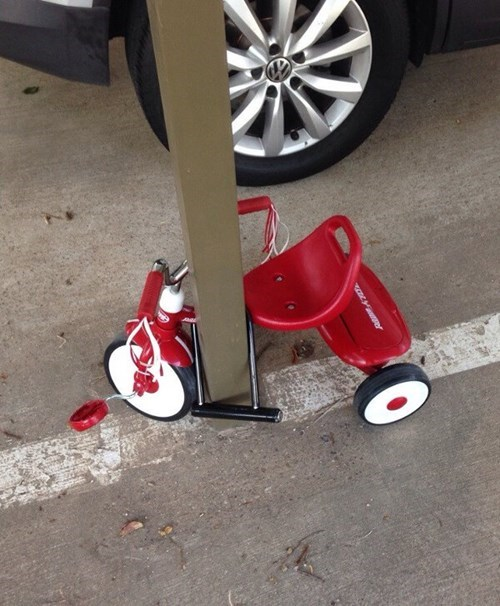 lock,kids,parenting,tricycle